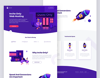 Purple Duck Club / Landingpage