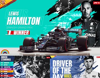 Formula 1 Social Rebrand