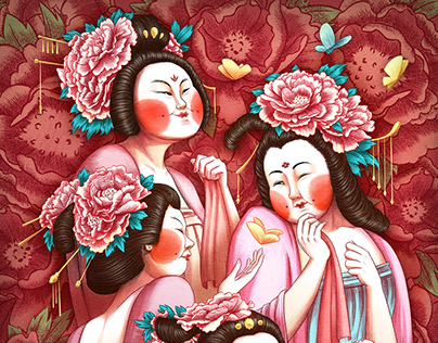 Women from different Dynasties of China