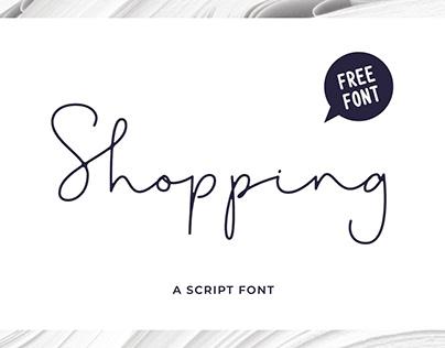 Shopping Script | A FREE FONT