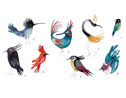 61 birds in the head