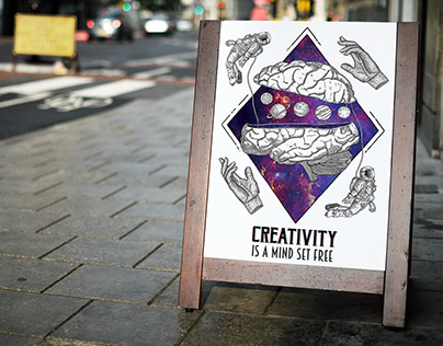 Poster~Creativity is a mind, set free~Hatching Method