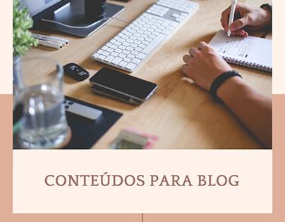 Criação de conteúdos para Blog