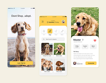 Pet Adoption App Design 🐶🐈