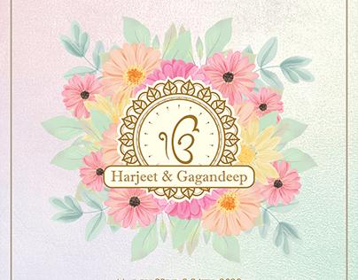 Floral Wedding E-Invite