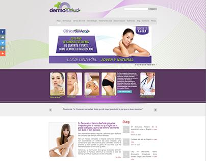 Diseño sitio web: Dermosalud Colombia