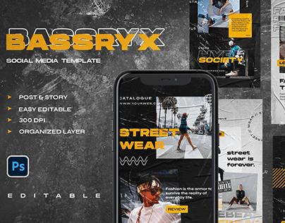 BASSRYX Social Media Template