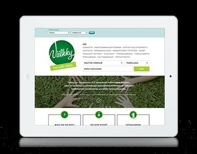 Välkky | Web & book design