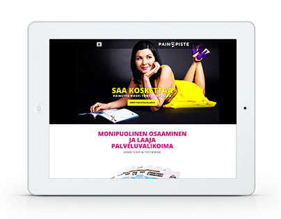 Rauman Painopiste | Identity, web design