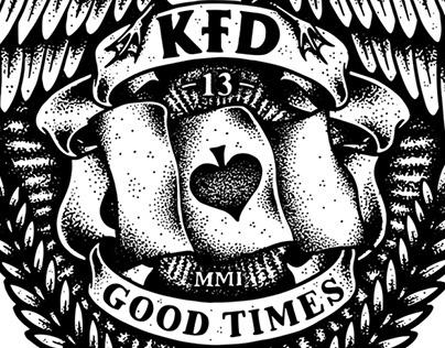 KFD Skateboards - 13 Year Anniversary Crest
