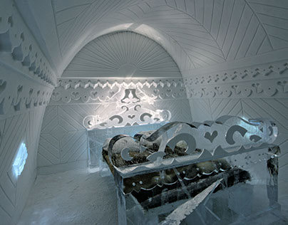 "Ice Hotel, ""Borderland"" suite"