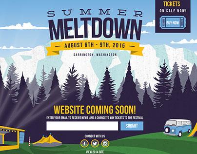 Landing Page for Summer Meltdown Festival