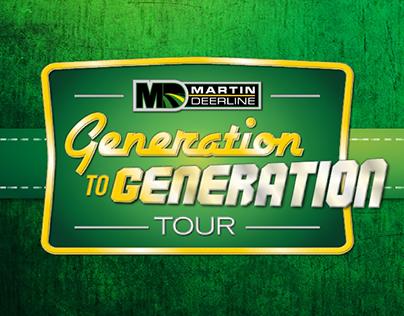 Martin Deerline Generation to Generation Tour Invites