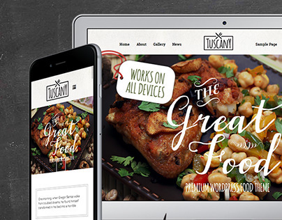 Tuscany - Restaurant Shop Creative WordPress Theme
