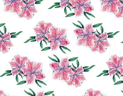 """Watercolor pattern """"Chinese flowers"""""""