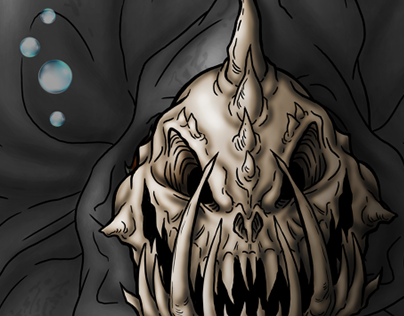Cloaked and Masked Creature Illustration