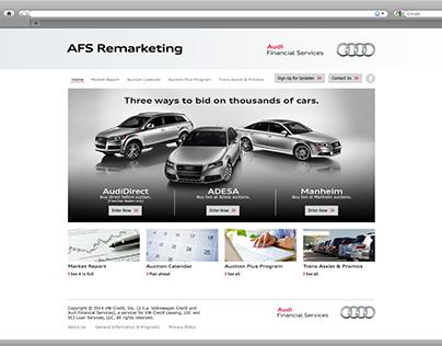 Audi Financial Services Remarketing Site