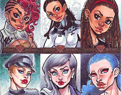 CRYPTOZOIC Sketchcards - Superman:The Legend (2012-13)