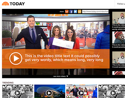 Video designs for TODAY show