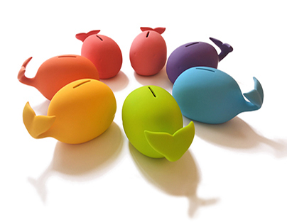"SAVE THE WHALES! ""piggy"" bank"