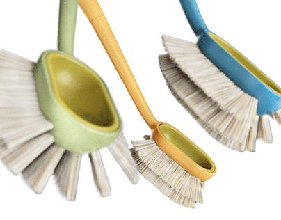 Everloop | Dish brush with interchangeable bristles