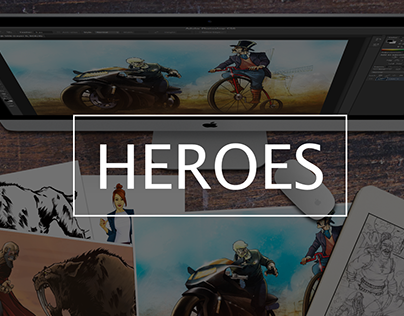 Heroes created by New Lion Studio