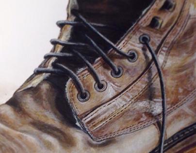 Peinture chaussure