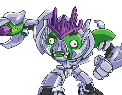 Transformers Angry Birds Character Art
