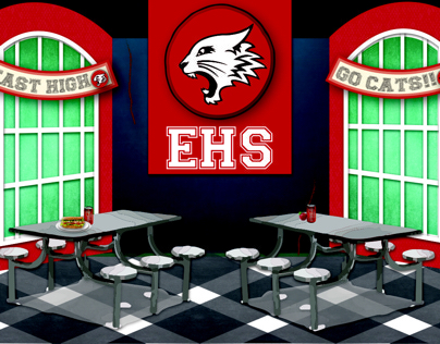 High school musical Jr.  theatre back drops