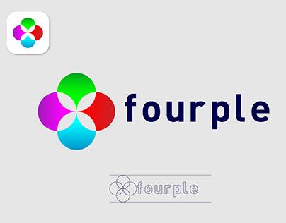 Fourple brand identity logo design for brand
