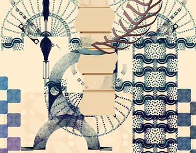 abstract Ω illustrations