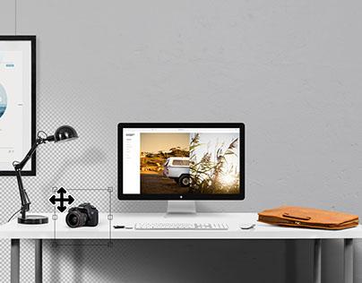 Desktop Mockup Creator - PSD