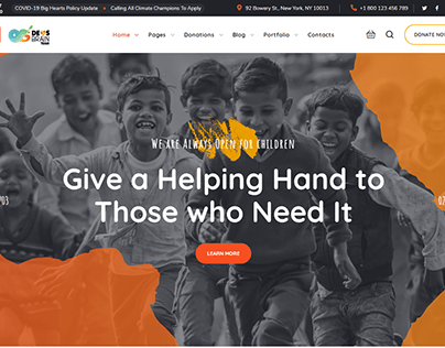 Charity & Donation - Responsive Website Development