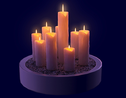 3d candle light