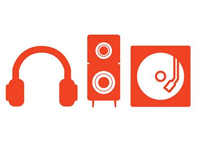 Icon Set for Elite Audio Coffee Bar