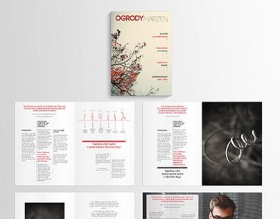 Magazine layout - Dream gardens