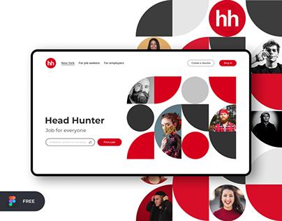 Head Hunter | Freebie Figma Template