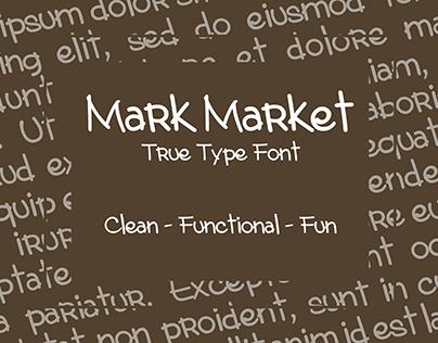 Mark Market - True Type Font
