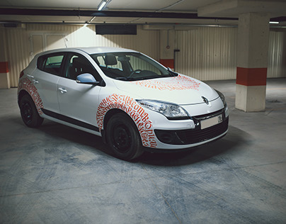 Calligraphy on Car