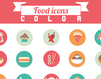 Food icons- colour