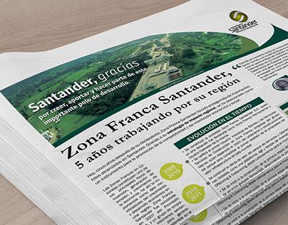 Publicación Informe de Gestión Zona Franca Santander