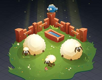 Isometric sheep-walk