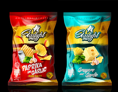 STARLIGHT SNACKS, Chips Packaging