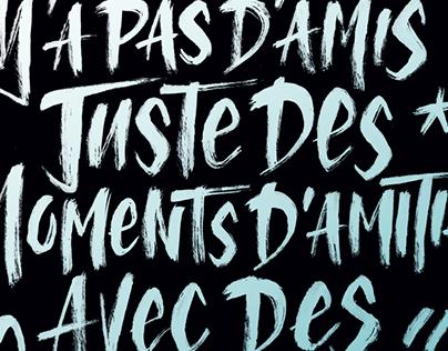 // Typographie - Punchlines 30 ans de rap français //