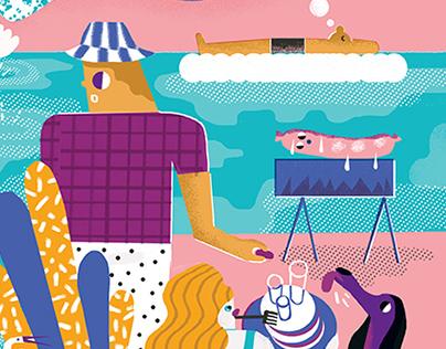 Editorial illustrations 2015 summer