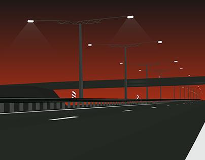 Grim highway