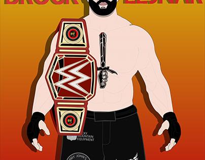 Brock lesnar vector character