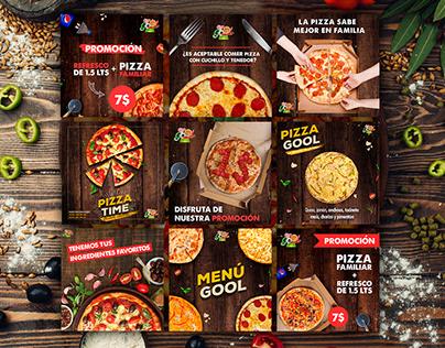 Diseños de Redes Sociales Para Pizzería