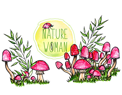 Nature Woman // Watercolor Painting