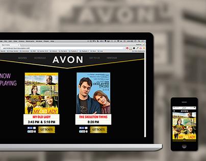 Avon Cinema | Website Redesign Concept